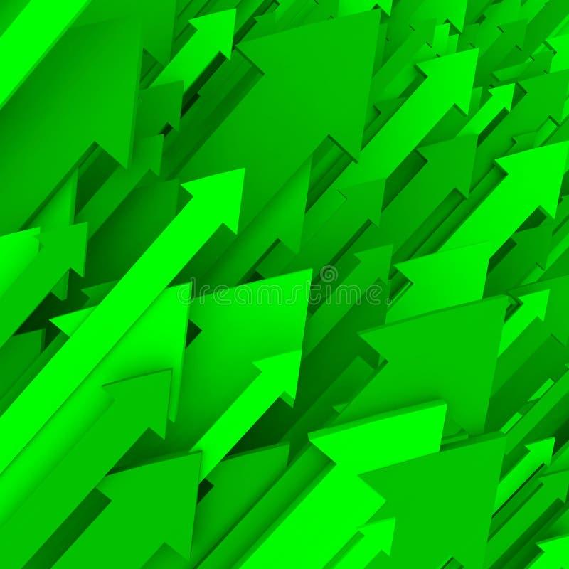 箭头背景绿色固体 皇族释放例证