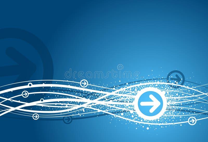 箭头背景蓝色 向量例证