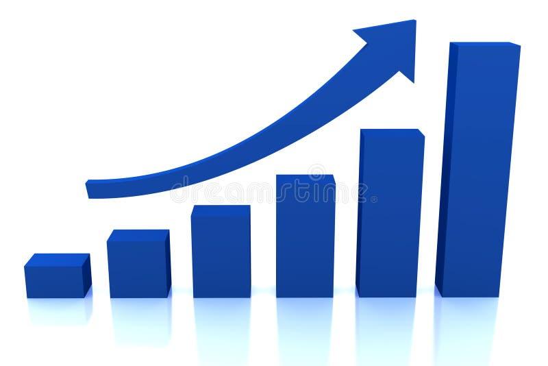 箭头蓝色企业绘制增长 皇族释放例证