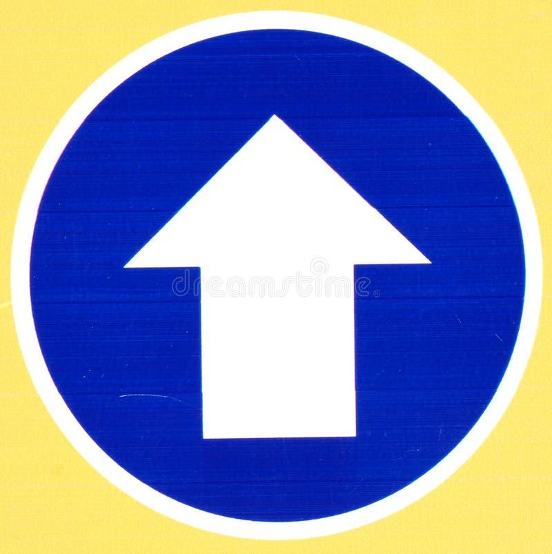 箭头蓝色路标 库存图片