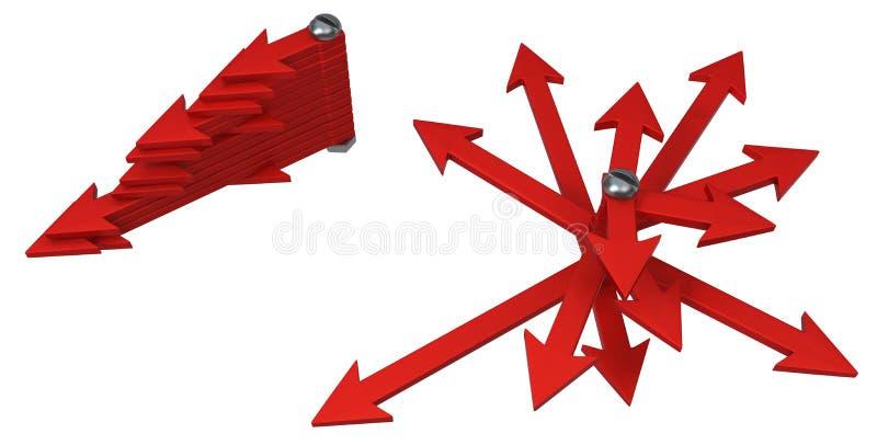 箭头螺栓展开摘要 库存例证