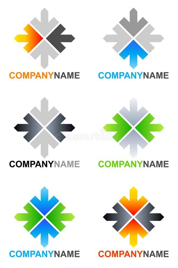 箭头设计徽标 库存例证