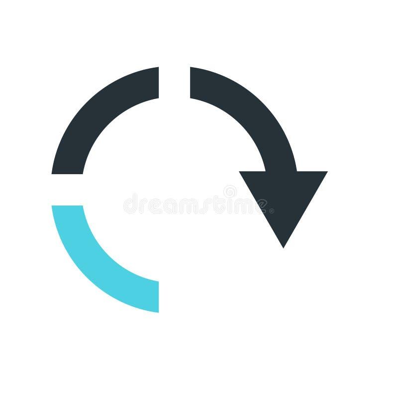 箭头象在白色backgro和标志隔绝的下来传染媒介标志 向量例证