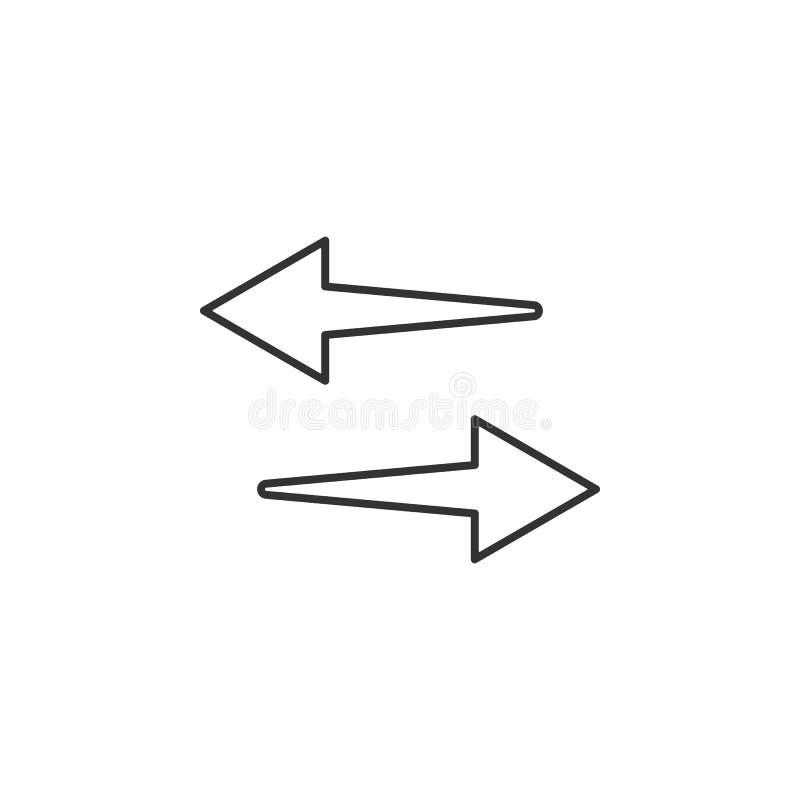 箭头,开关线象 流动app的简单,现代平的传染媒介例证,网站或者桌面app 皇族释放例证