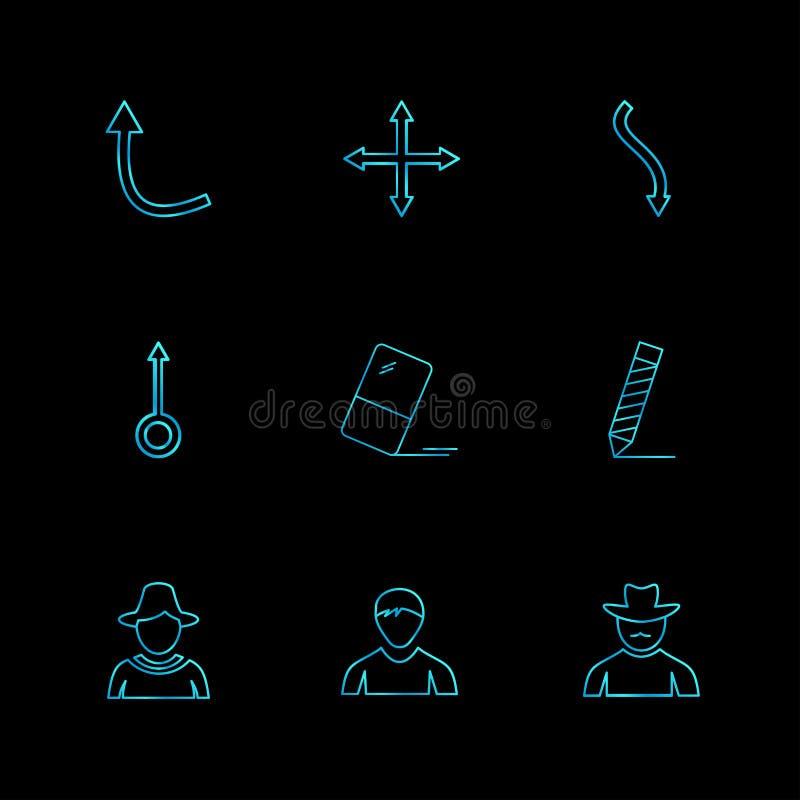 箭头,方向,具体化,下载,加载, apps,用户我 向量例证