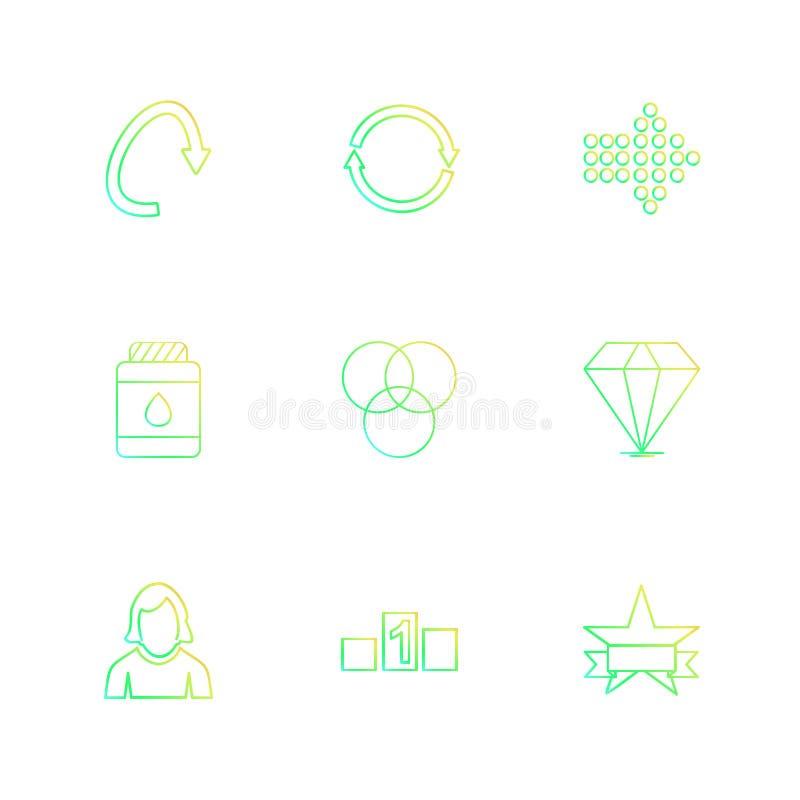 箭头,方向,具体化,下载,加载, apps,用户我 库存例证