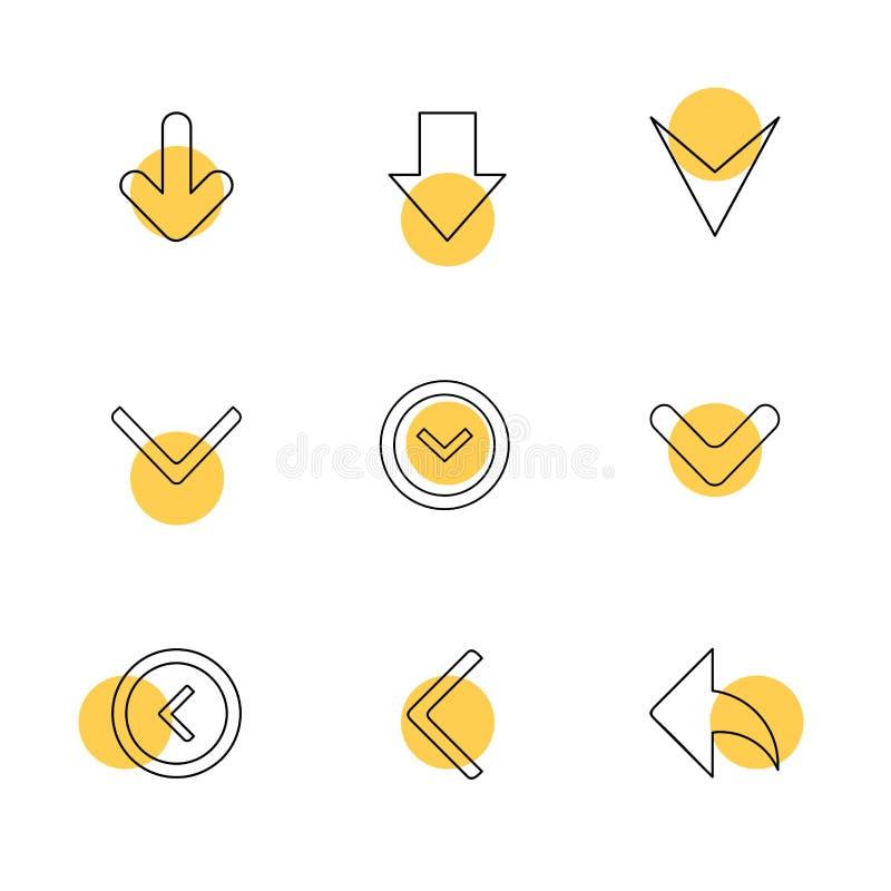 箭头,方向,尖,箭头,用户界面,尖 库存例证