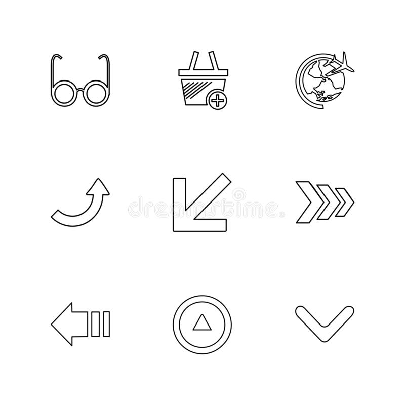 箭头,方向,尖,箭头,用户界面,箭头 向量例证