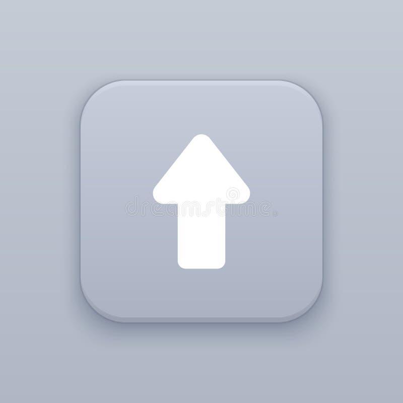 箭头,有白色象的灰色传染媒介按钮 向量例证