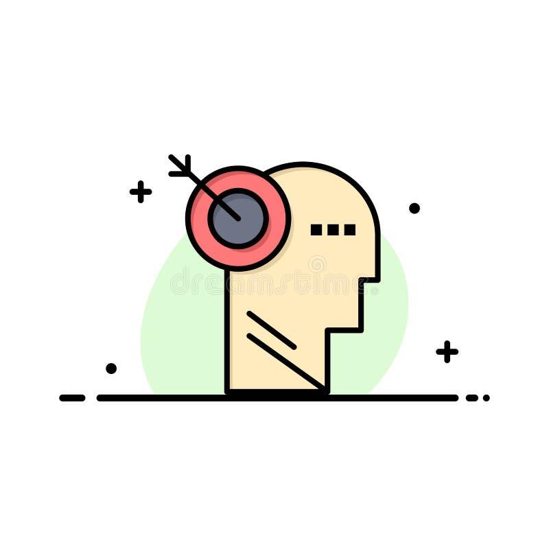 箭头,焦点,精确度,目标企业商标模板 o 向量例证