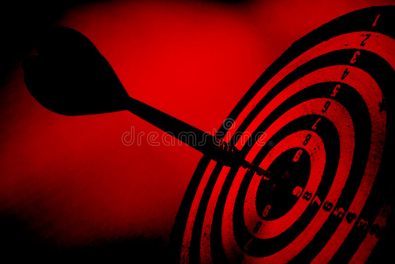 箭头grunge红色目标 库存图片