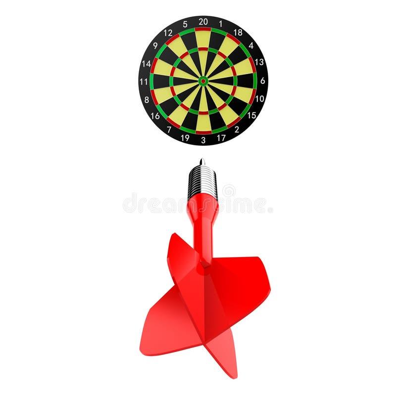 箭掷镖的圆靶 库存例证