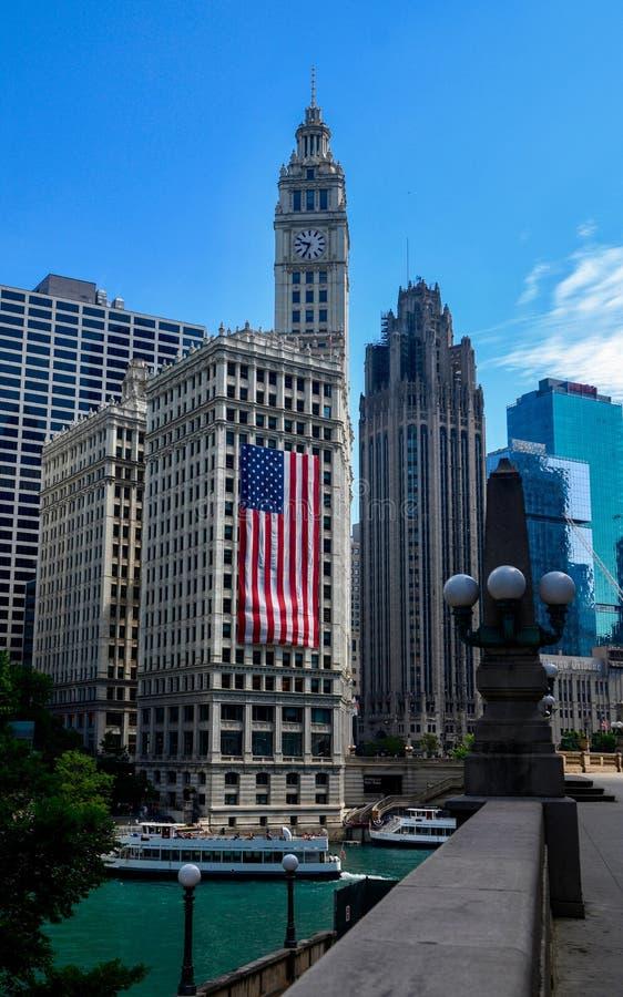 箭牌大厦巨型旗子#3 免版税库存图片