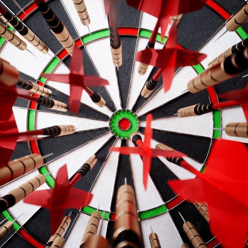 箭箭头在目标中心 皇族释放例证
