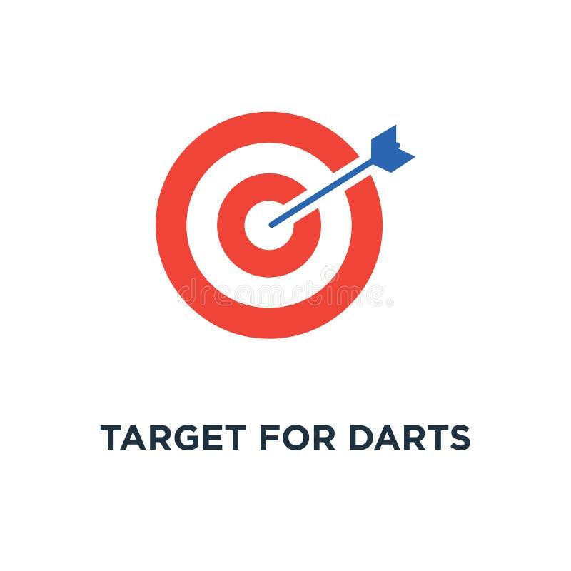 箭象的目标 飞镖概念标志设计,箭头击中了目标,目标,达到目标,准确命中,使命 向量例证