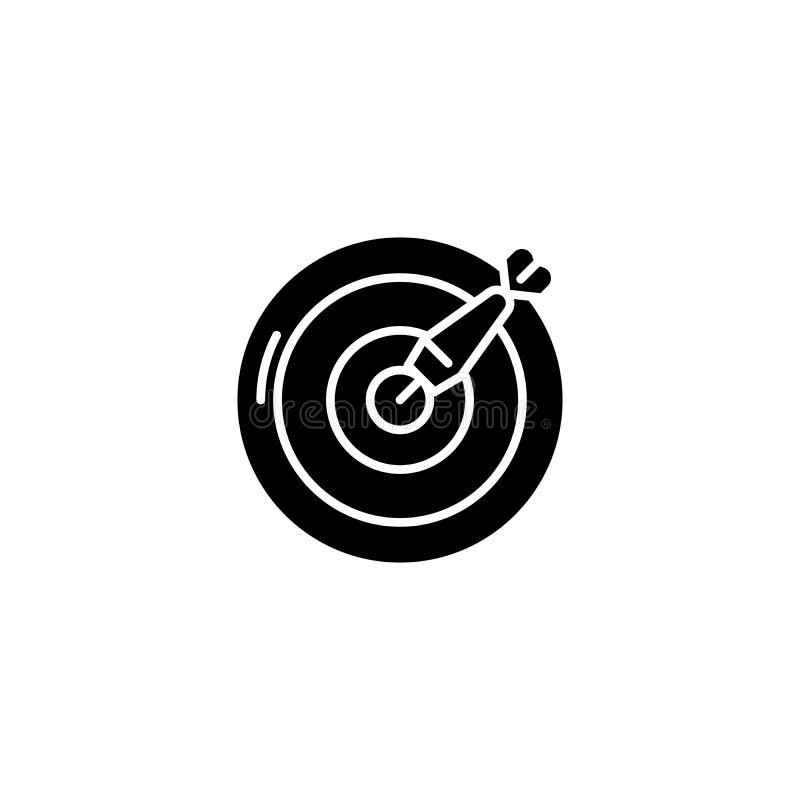 箭黑象概念 箭平的传染媒介标志,标志,例证 库存例证