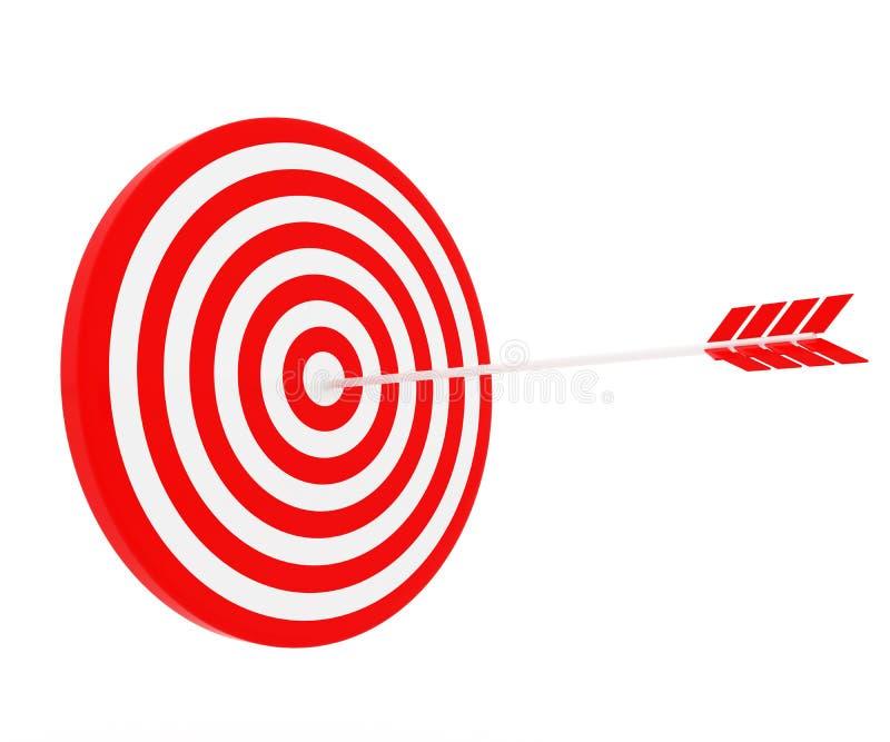 箭头击中了目标 库存例证