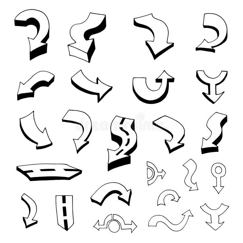Download 箭头例证集合向量 向量例证. 插画 包括有 权利, 刻凹痕, 分级显示, 形成弧光的, 粗砺, 影子, 收集 - 59100126