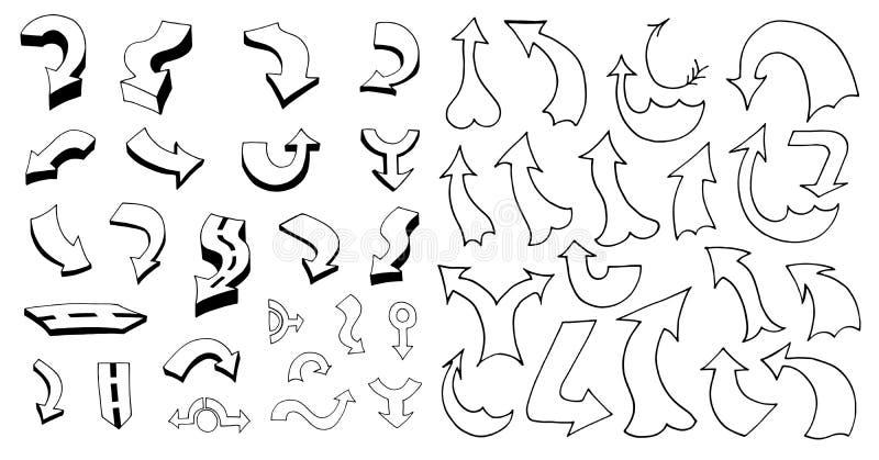 Download 箭头例证集合向量 库存例证. 插画 包括有 乱画, 形成弧光的, 商业, 游标, 要素, 箭头, bents - 59102405