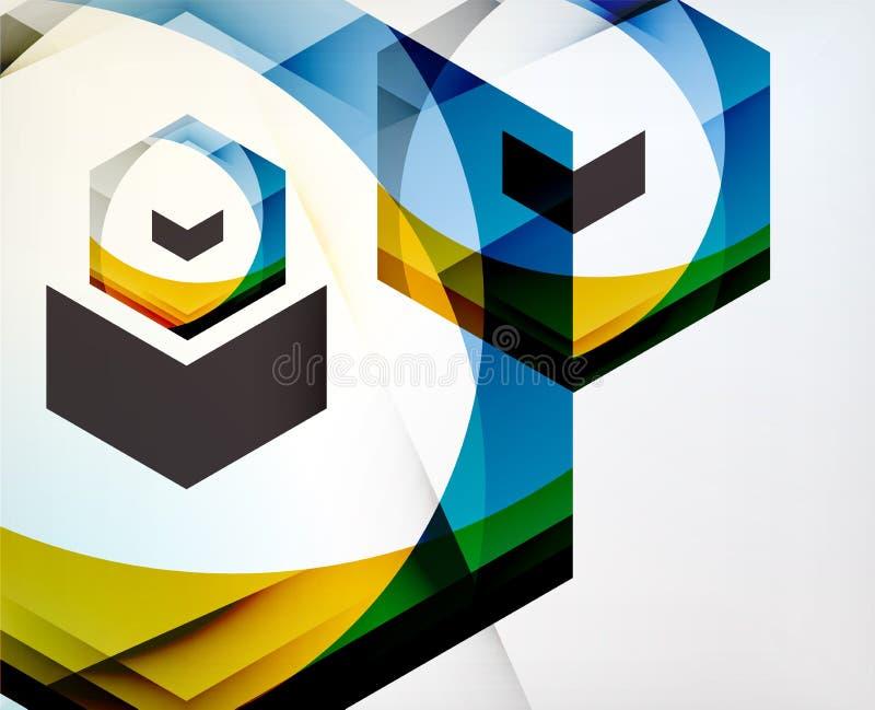 箭头几何形状摘要企业背景 向量例证