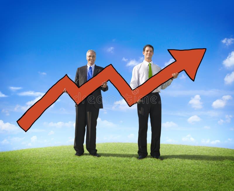 箭头商人企业成功志向移动的概念 免版税库存照片