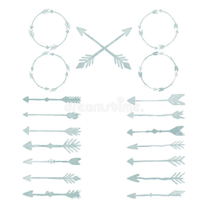 箭头水彩设计元素 库存图片