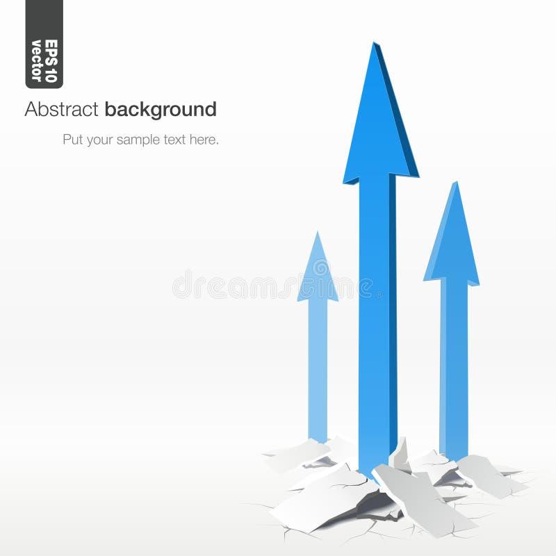 箭头-成长概念 向量背景 向量例证