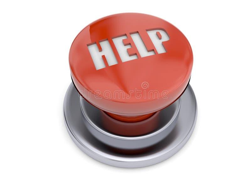 箭头按钮图象帮助红色 皇族释放例证