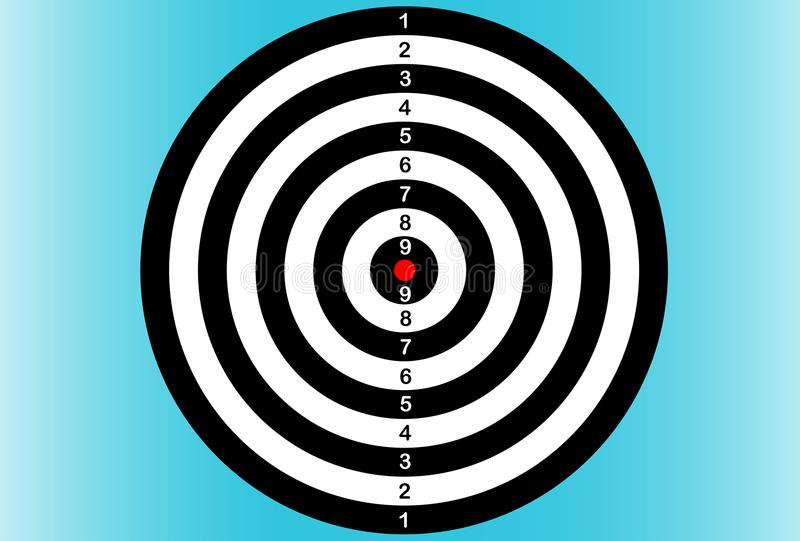 箭 掷镖的圆靶 也corel凹道例证向量