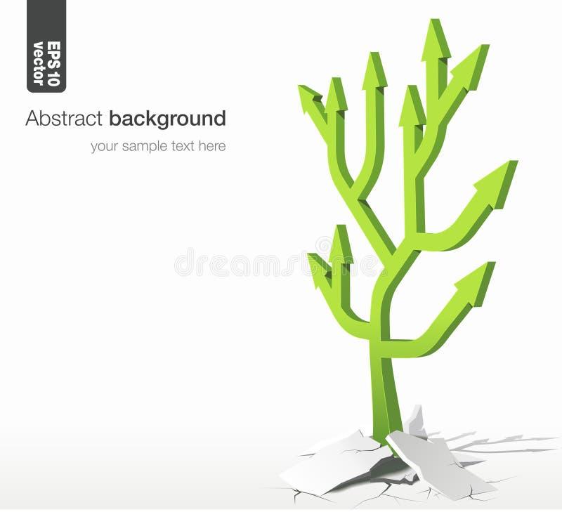 箭头树-成长概念 向量背景 皇族释放例证