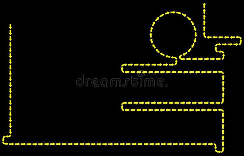 箭头背景黑色向量 向量例证