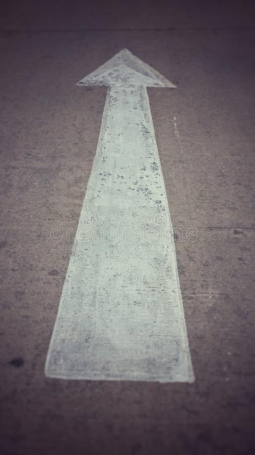 箭头街道 图库摄影