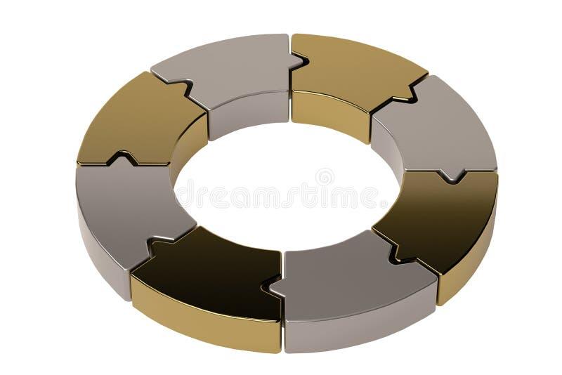 箭头轮子样式 3d例证 皇族释放例证