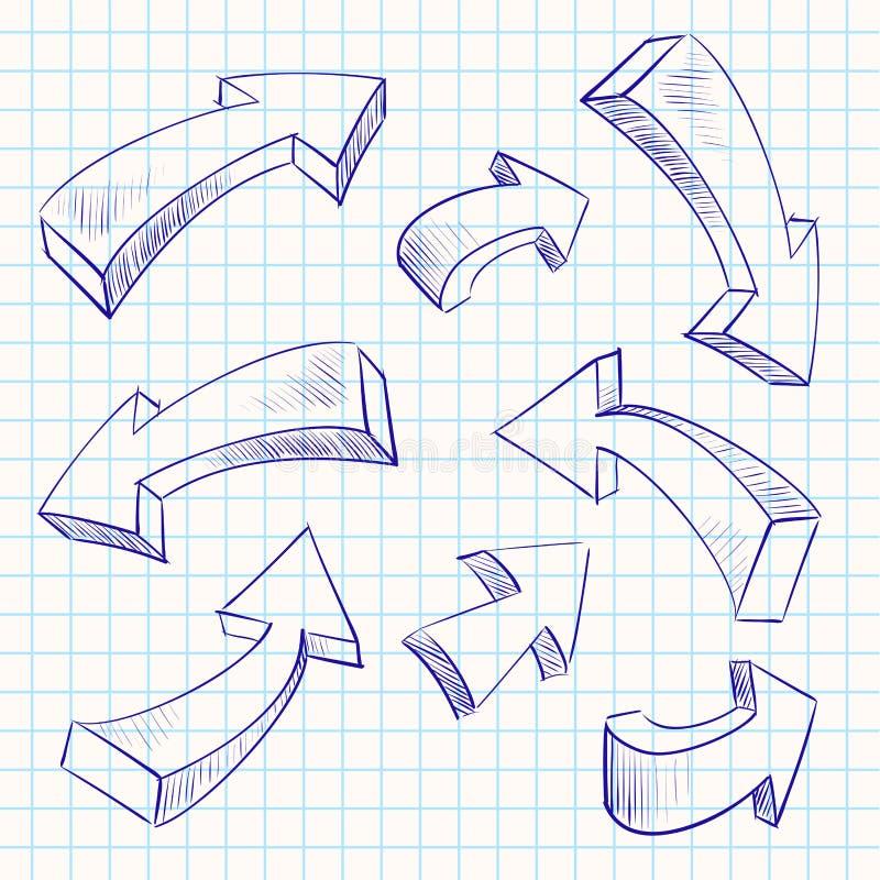 箭头颜色概略设计元素集 皇族释放例证
