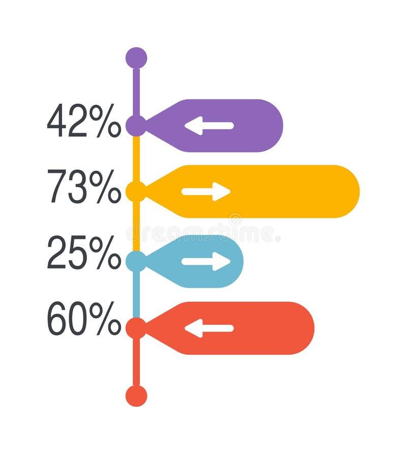 箭头Infographic元素传染媒介例证 库存例证