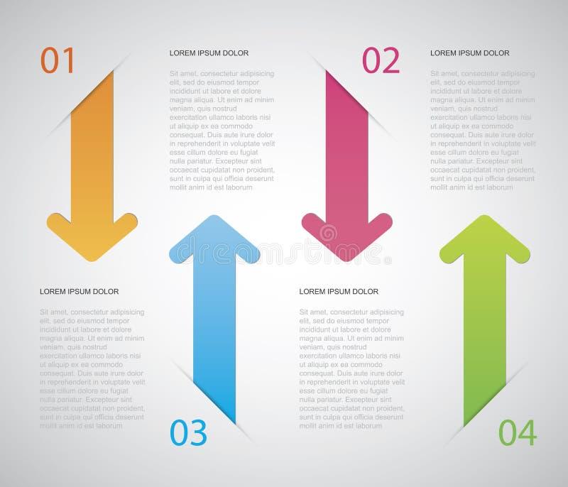 箭头Infographic 向量例证
