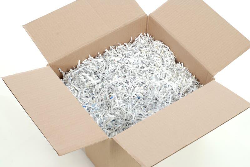 箱切细的纸张 免版税图库摄影