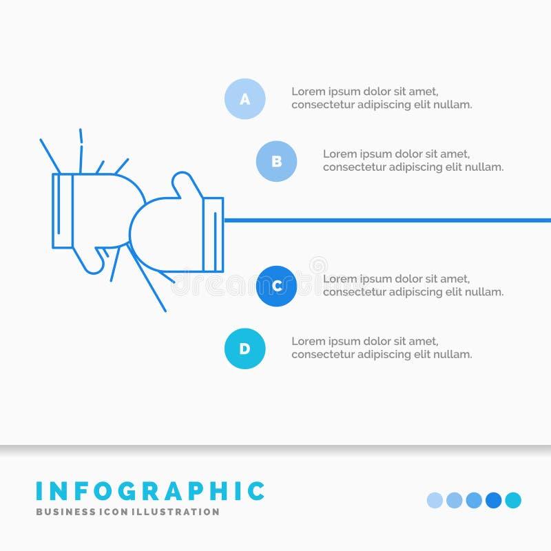 箱子、拳击、竞争、战斗、手套Infographics模板网站的和介绍 r 皇族释放例证