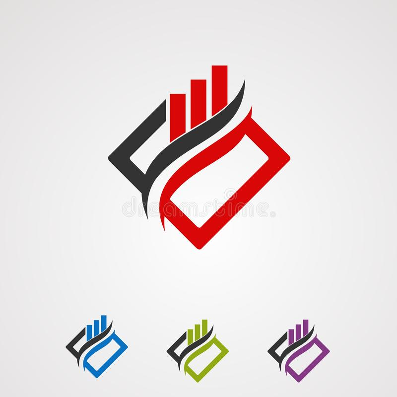箱子市场商标传染媒介概念、象、元素和模板公司的 皇族释放例证