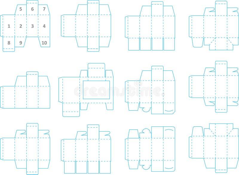 箱子模板汇集01 eps 皇族释放例证