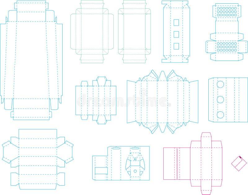 箱子模板汇集07 eps 向量例证