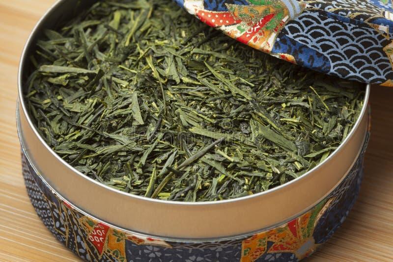 箱子用日本绿茶 库存图片