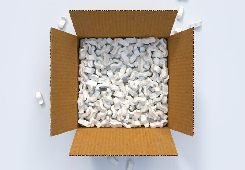 箱子用运输花生和 皇族释放例证