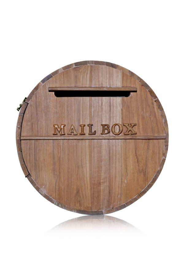 箱子由木片做成在白色背景 免版税库存图片