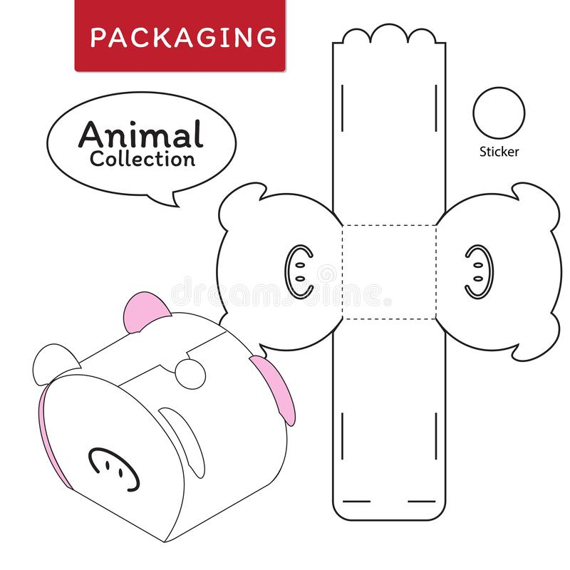 箱子的动物汇集传染媒介例证 向量例证