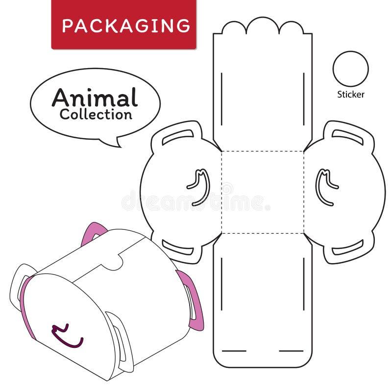 箱子的动物汇集传染媒介例证 库存例证