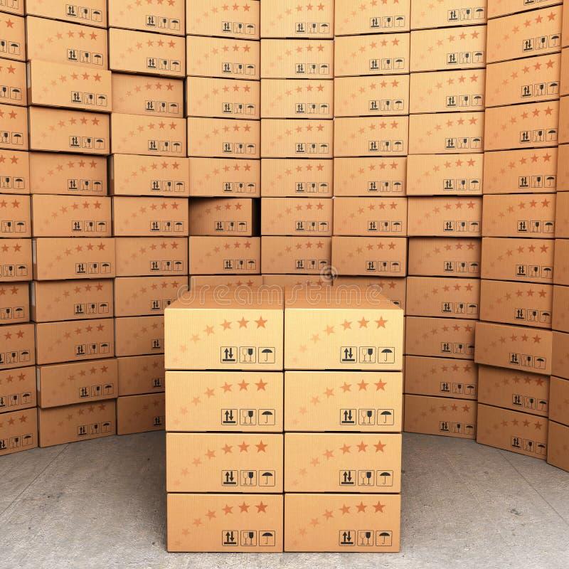 箱子的指挥台 向量例证