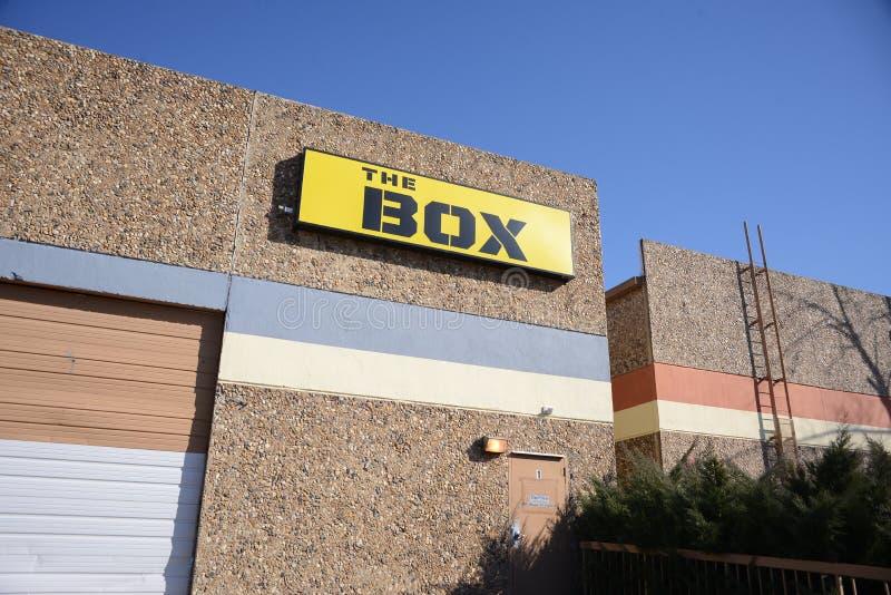 箱子跨适合健身房 免版税图库摄影