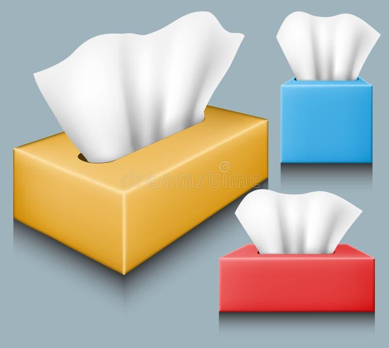 组织箱子集合 向量例证