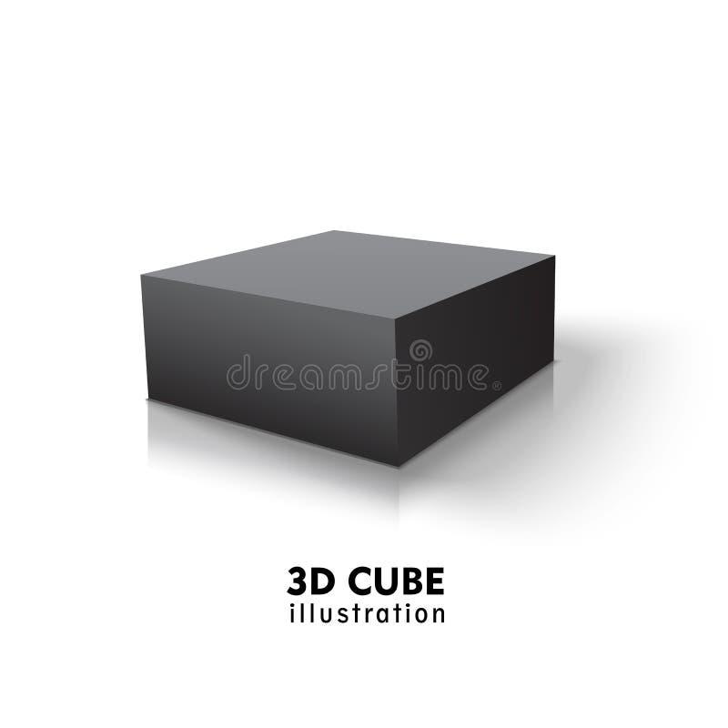 箱子黑色象 : r 库存例证